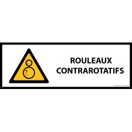 Panneau de danger ISO EN 7010 - Rouleaux contrarotatifs - W025