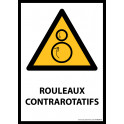 Panneau ISO EN 7010 - Rouleaux contrarotatifs - W025