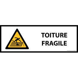 Panneau de danger ISO EN 7010 - Toiture fragile - W036 - Vinyle - 297 x 105 mm