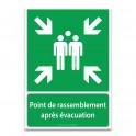 Panneaux NF EN ISO 7010 - Point de rassemblement après évacuation - E007