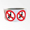"""Rouleau de Pictogrammes d'Interdiction ISO EN 7010 """"Interdiction de s'asseoir"""" P018"""