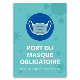 """Panneau """"Port du masque obligatoire - Merci de votre compréhension"""""""