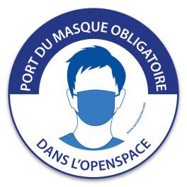 """Panneau """"Port du masque obligatoire dans l'openspace"""""""