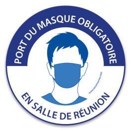 """Panneau """"Port du masque obligatoire en salle de réunion"""""""