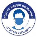 """Panneau """"Port du masque obligatoire dans les vestiaires"""""""