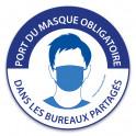 """Panneau """"Port du masque obligatoire dans les bureaux partagés"""""""