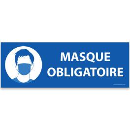 """Panneau d'obligation """"Masque obligatoire"""" bleu"""