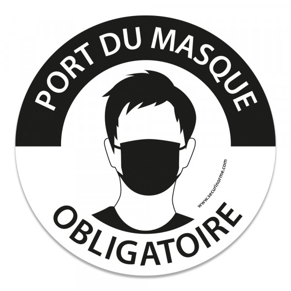 """Panneau """"Masque obligatoire"""" Gravé - 300 mm"""