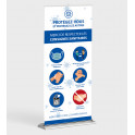 """Roll-up """"Consignes sanitaires"""" 85 x 200 cm"""