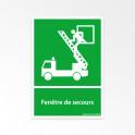 Panneaux ISO 7010 d'évacuation - Fenêtre de secours - E017
