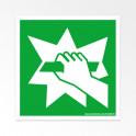 """Panneaux ISO 7010 d'évacuation carrés """"Casser pour obtenir l'accès"""" - E008"""