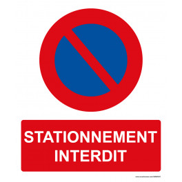 Panneau rectangulaire de sécurité Stationnement interdit
