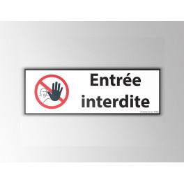 """Signalisation """"Entrée interdite"""" - Pictogramme main"""