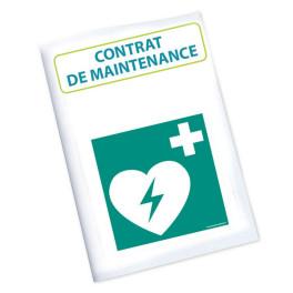 """Contrat annuel de maintenance pour défibrillateur """"FRED"""""""