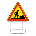 Panneau de chantier temporaire sur pieds - hauteur 70cm ou 100cm