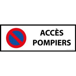 Signalisation - Interdiction stationnement, accès pompiers