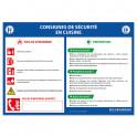 Panneau consignes de sécurité en cuisine