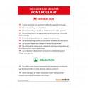 Panneau consignes de sécurité pont roulant
