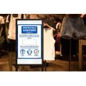 Affiche adhésive - Nombre de personnes maximum autorisées - A3 et A4 - version bleue