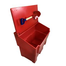 Bac à sable et sel rouge + pelle - 50L, 100, 200L, 300L