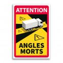 Autocollant Danger Angles Morts Camions - par 3
