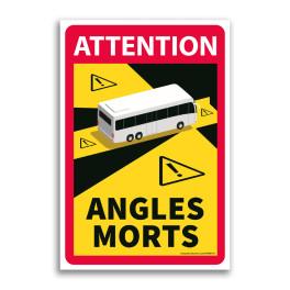 Autocollant Danger Angles Morts Bus - par 3
