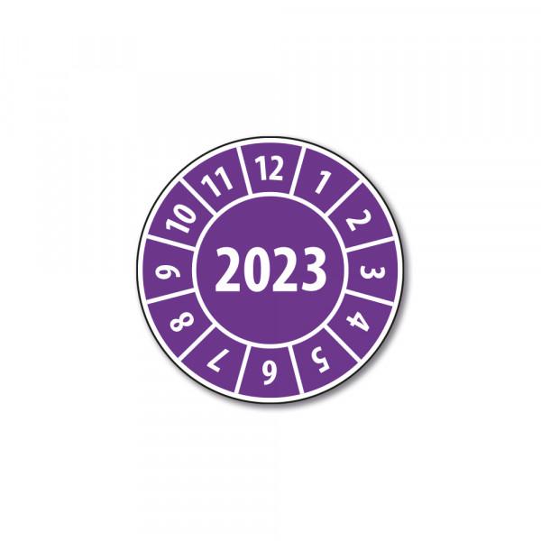 Pastille calendrier année complète 2023 en Polymère laminé