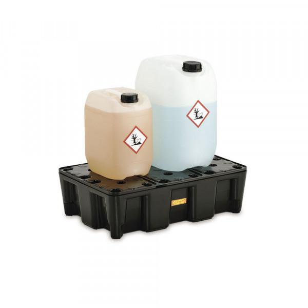 Bacs de rétention avec caillebotis - 25, 35, 60, 120 ou 250 litres