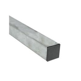 Poteau acier galvanise 40x40 mm