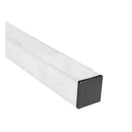 Poteau carré laqué blanc 40x40 mm