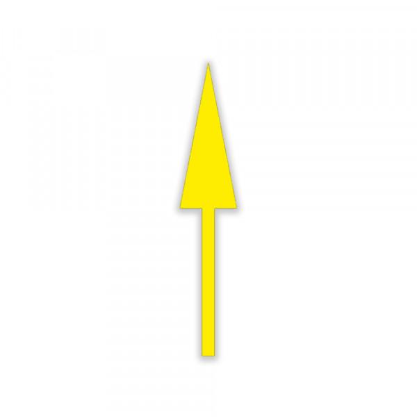 Flèche droite pour marquage temporaire 2000 x 350 mm