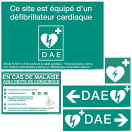 Pack signalétique DAE - 5 Panneaux signalétique DAE