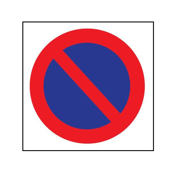 Lot de 20 papiers autocollants - Stationnement interdit Rond