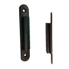 Panneau A4 noir / adaptateur noir pour poteau à sangle