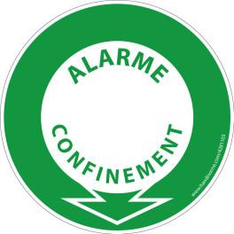 Panneau et autocollant Alarme confinement