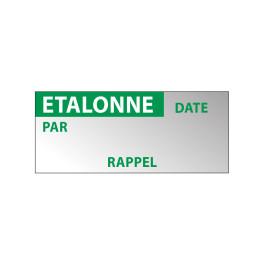 """Lot étiquettes Aluminium """"Etalonné"""""""