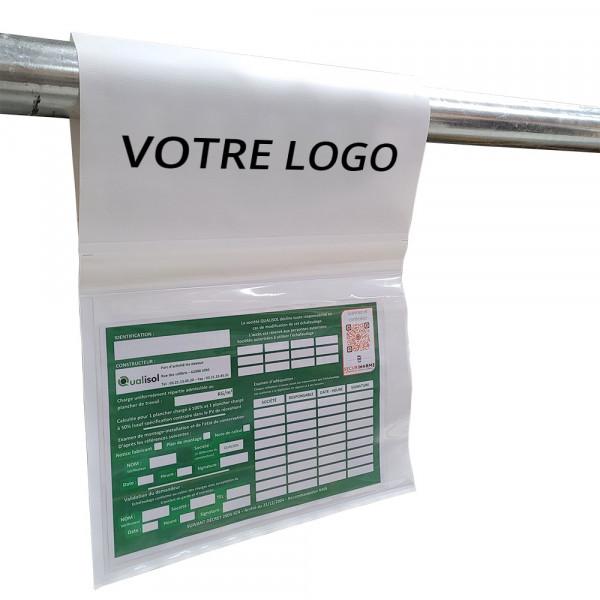 Pochettes de vérification échafaudage personnalisables - par 25