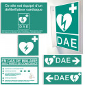 Pack Signalétique DAE + Support signalétique DAE