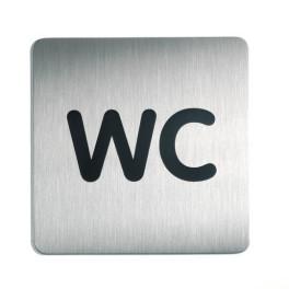 """Pictogramme carré pour porte """"WC"""""""
