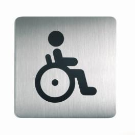"""Pictogramme carré pour porte """"Toilettes Personnes handicapées"""""""