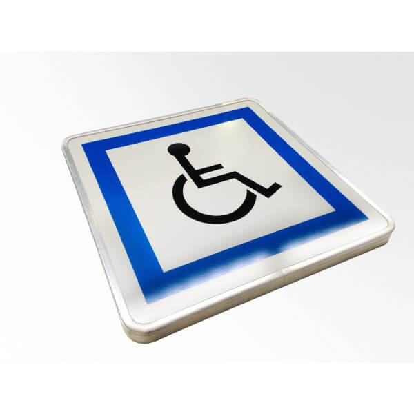 Panneau parking Picto handicapé à couvre chant