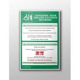 Panneau de Consignes EAS en PVC Forex