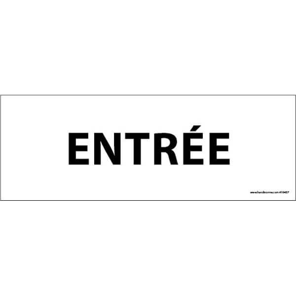 """Plaque de Porte """" ENTREE"""" fond blanc"""