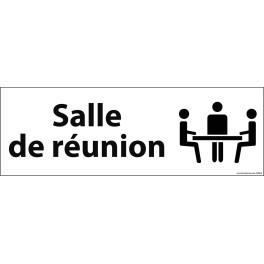 """Panneau de Porte """" Salle de réunion"""" fond blanc"""