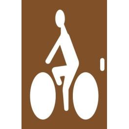 Pochoir en bois cycliste