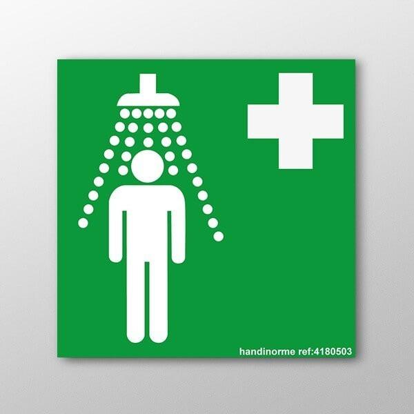 Panneau douche de s curit signal tique vacuation pmr - Reglementation douche de securite ...
