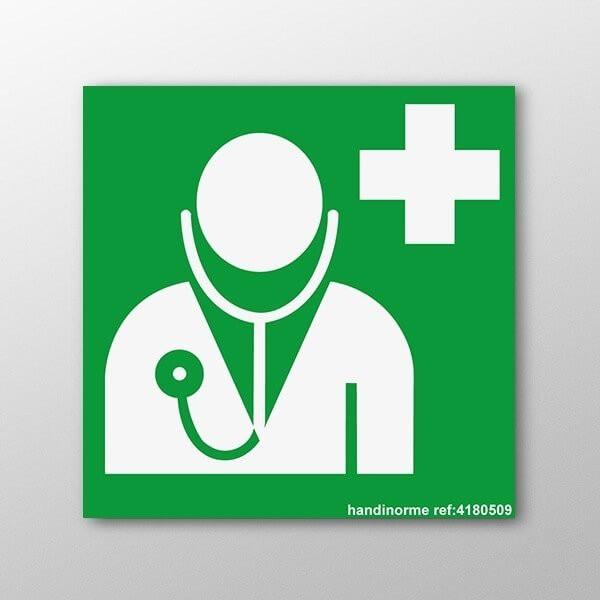 """Panneau ISO EN 7010 """"Médecin"""" E009"""