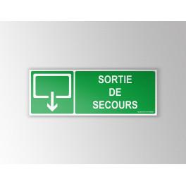 Panneaux Sortie de secours - evacuation rectangle