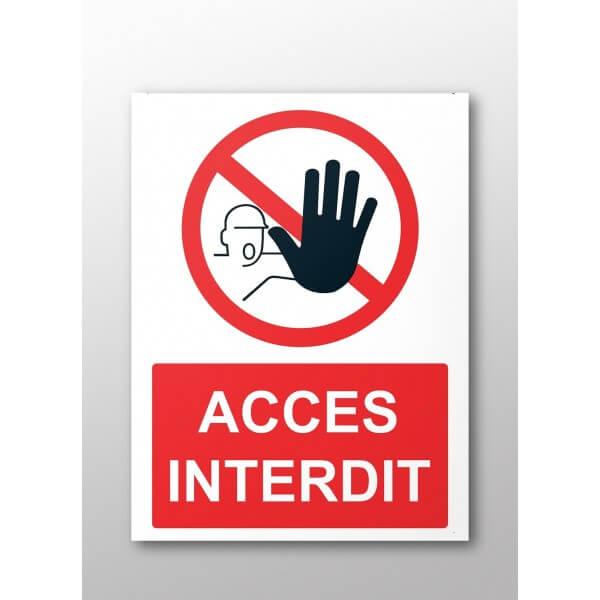 Panneau rectangulaire de sécurité Accès interdit