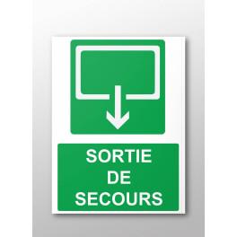 Panneau rectangulaire de sécurité Sortie de secours
